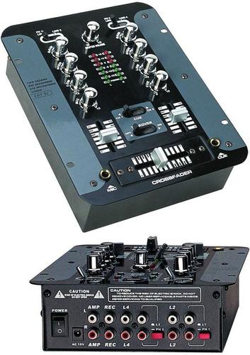 consola mixer  moon mdj  206  dj stereo 2 canales 4 entradas