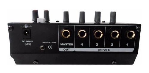 consola mixer moon mini 4 canales moon mdj400 con efectos