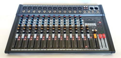consola mixer parquer 12 canales efectos bluetooth usb cuota