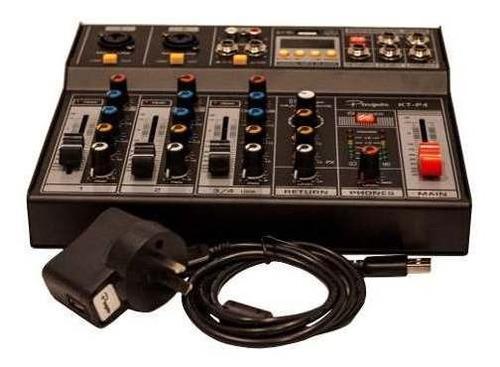 consola mixer parquer 4 canales phanton power dc 5v