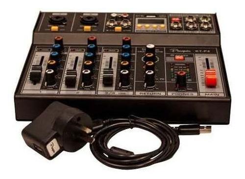 consola mixer parquer 4 canales phanton power dc 5v cuota