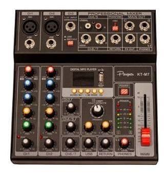 consola mixer parquer 7 canales phanton power dc 5v