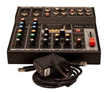 consola mixer parquer 7 canales phanton power dc 5v cuota