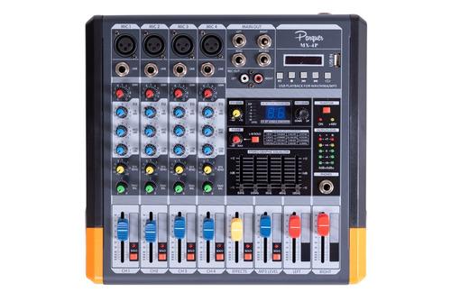 consola mixer pasiva 4 ch phanton dsp efectos mx-4p