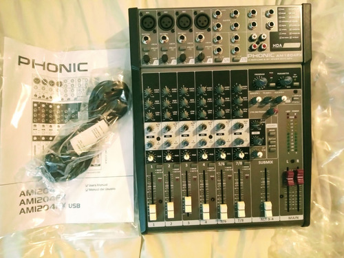 consola  mixer phonic  am1204fx - 8 canales