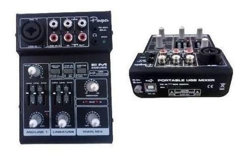 consola mixer portatil recargable 3 ch parquer mx-3lb