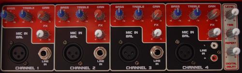 consola mixer potenciado novik nvk 4300 usb /sd bluetooth