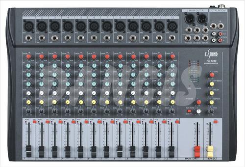 consola mixer profesional 12 canales de mic y line efectos