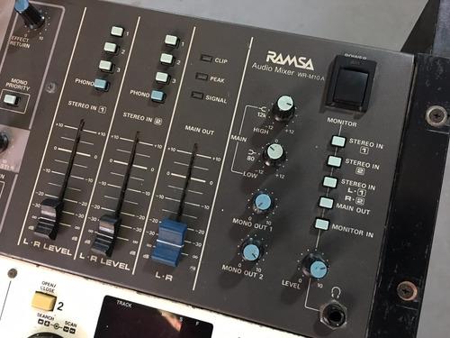 consola mixer sonido ramsa (panasonic) compactera denon 1800