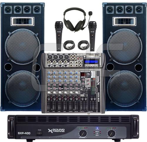 consola mixer soundxtreme sxm 520 u 8 canales usb mp3sd cjf