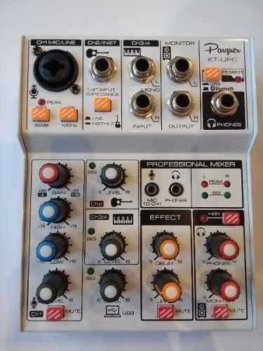 consola mixer usb parquer kt-upc