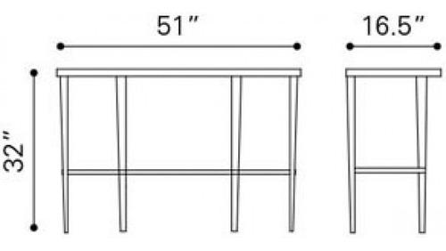 consola modelo elite - acero inoxidable këssa muebles