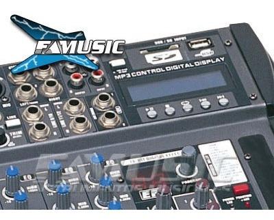 consola moon mc12usb mixer 12 canales usb sd c/ reproductor