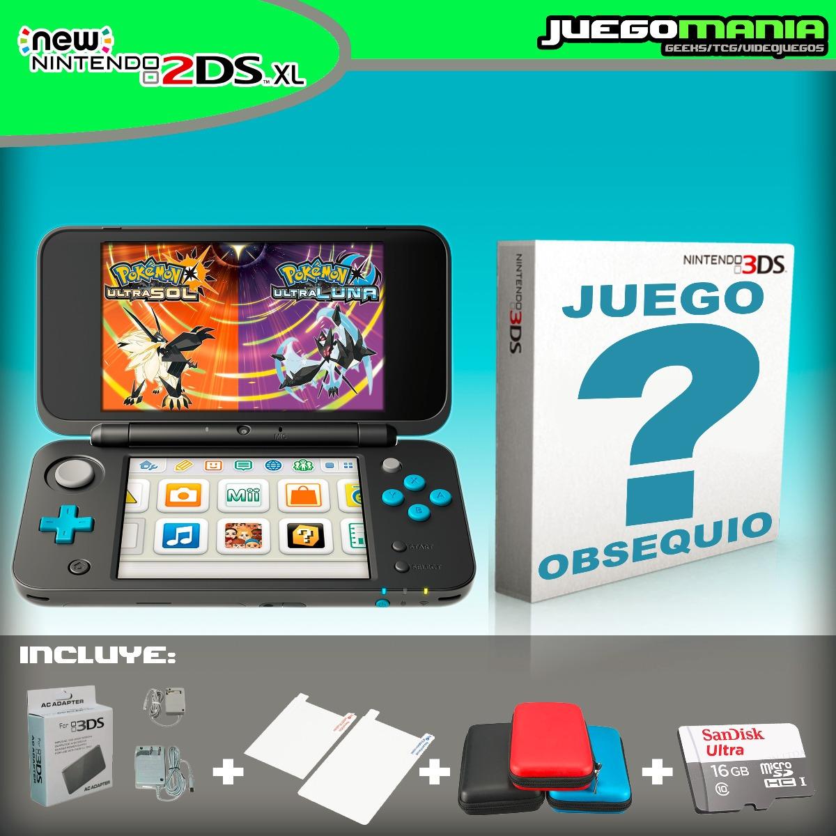 Consola New 2ds Xl Nueva Juego 16gb Envio Gratis