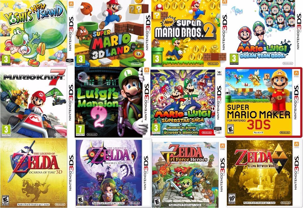 Consola Nintendo 3ds Juegos 3d Temas 32gb Ultra Luna 3 699 00