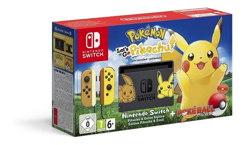 consola nintendo switch edición pokemon let's go + pokeball