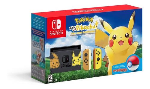 consola nintendo switch edicion pokemon pikachu pokeball /u