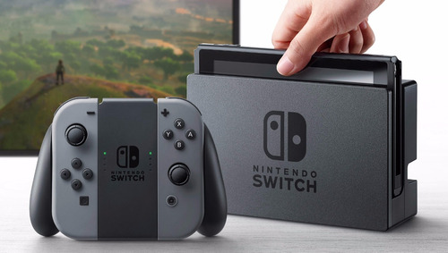 consola nintendo switch gris + joycon l y r + 1-2 switch