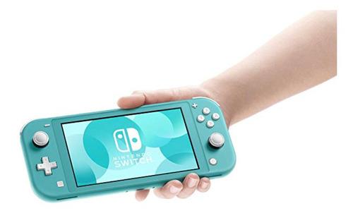 consola nintendo switch lite gris o turquesa + juego pokémon