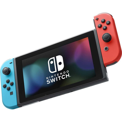 consola nintendo switch neon azul y rojo pctechnical