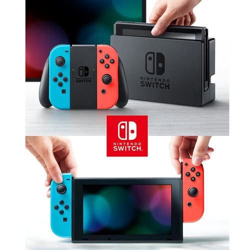 consola nintendo switch neon joy-con original nuevo  /u