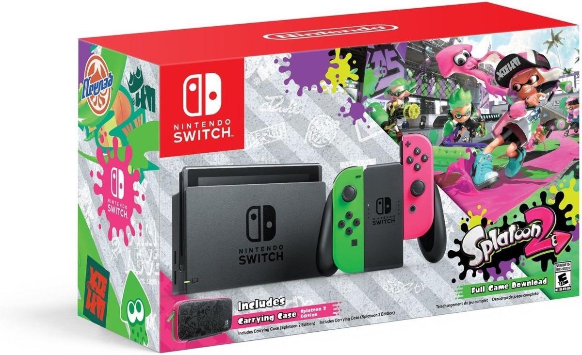 Consola Nintendo Switch Splatoon Original Nueva Envio Gratis