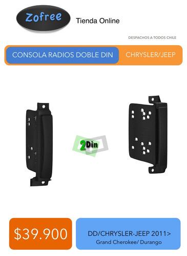 consola para radios doble din chrysler - jeep desde 2011