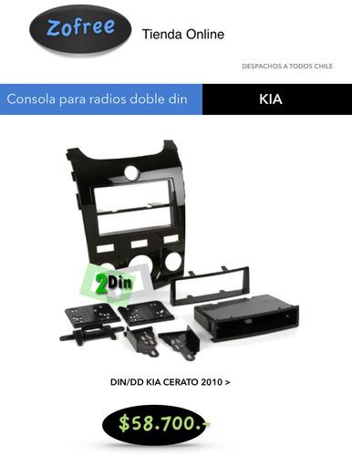 consola para radios doble din kia cerato desde 2010