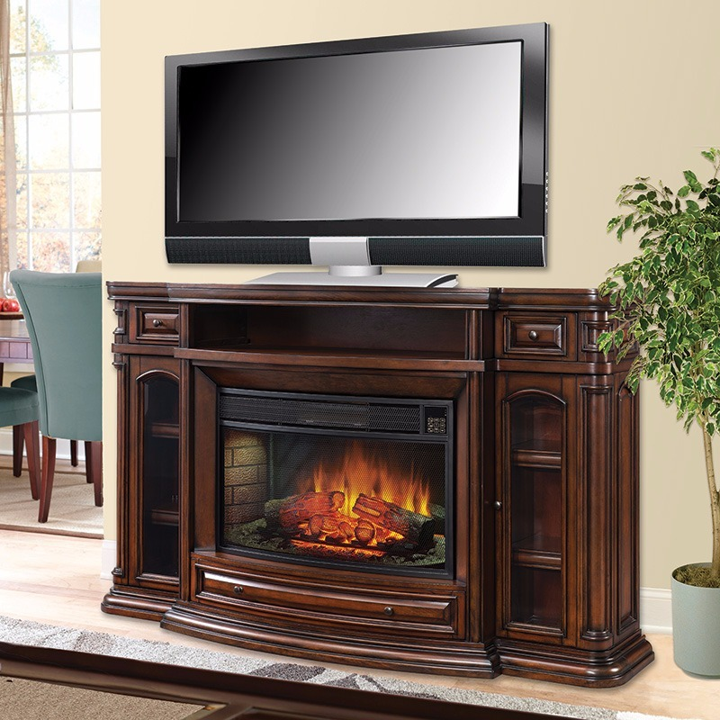 Consola para tv chimenea el ctrica madera ember hearth - Chimeneas artificiales decorativas ...
