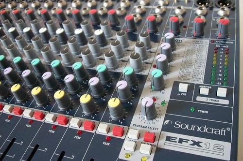 consola pasiva con efectos efx12 soundcraft profesional