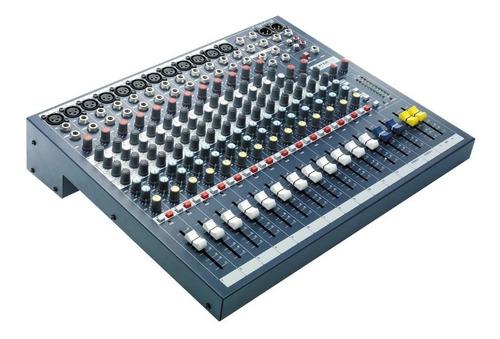 consola pasiva soundcraft de 12 canales + 2 stereos epm12