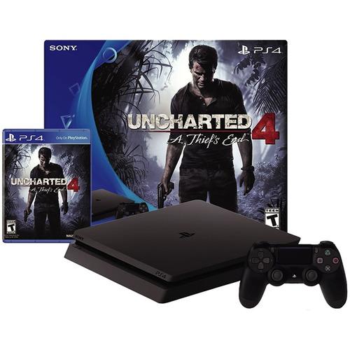 consola play ps4 slim nuevo modelo + uncharted 4 + joystick