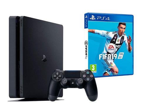 consola play station 4 + joystick + fifa 19 ps4
