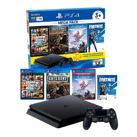 Consola Play Station 4 Megapack + 3 Juegos + Plus 3 Meses !