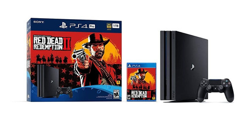 consola playstation 4 pro 1tb- paquete red dead redemption 2