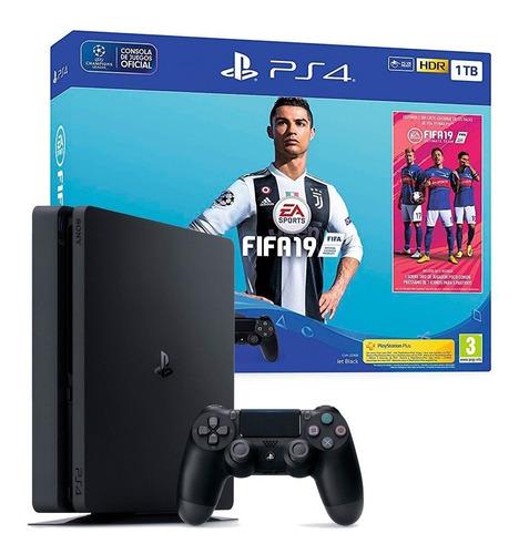 consola playstation 4 ps4 1 tb + fifa 2019