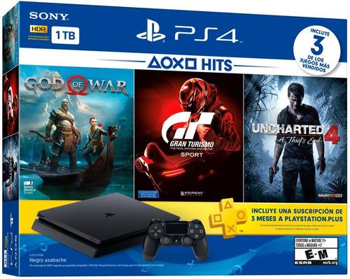 consola playstation 4 slim 1tb hits bundle 3 juegos plus 3 m
