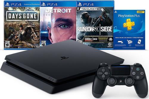 consola playstation 4 slim 1tb hits bundle 5 3 juegos plus 3