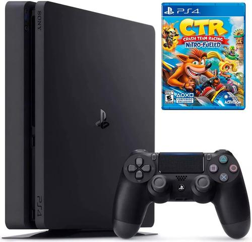 consola playstation slim con juego ps4