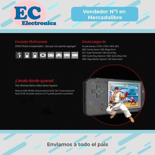consola portatil 64 bits retro mp5 2500 juegos incorporados de cp1 gba nes snes y mas * garantia *