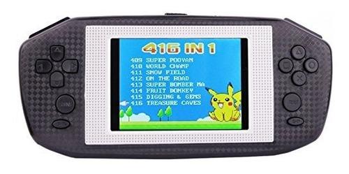consola portatil de 416 juegos super powkiddy recargable