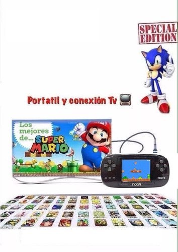 consola portatil juegos family  station 8bits  retro tv