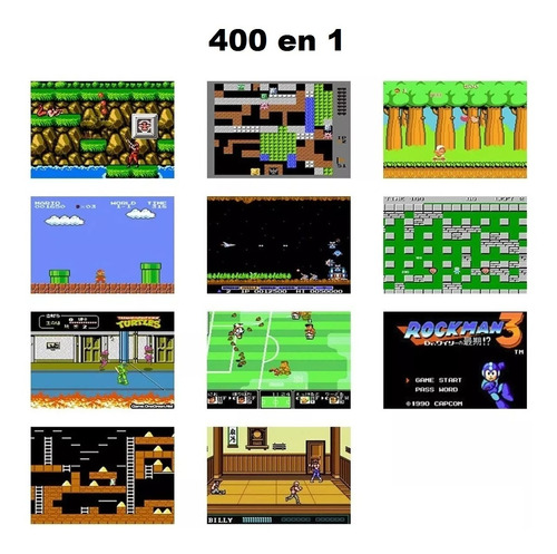consola portatil juegos retro sup game box 400 en 1
