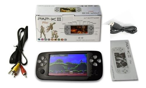 consola portatil klll con 3000 juegos, salida a tv, 16gb.