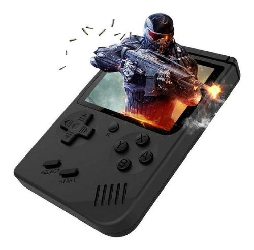 consola portatil retro fc plus 168 juegos 8bits negra nueva