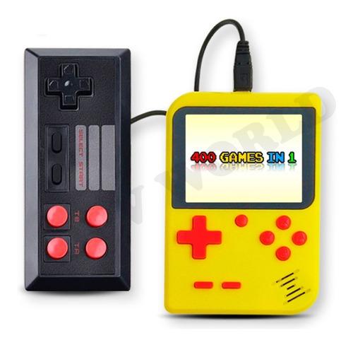consola portatil retro mini + control 2 jugadores 400 juegos