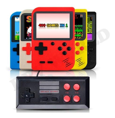 consola portatil retro mini + control 2 jugadores 500 juegos