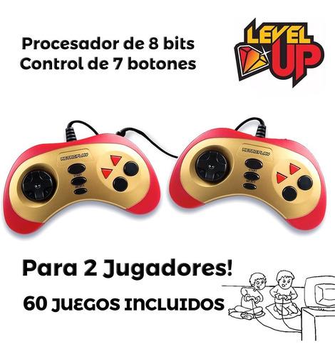consola portatil retro play 60 juegos 2 jugadores joystick