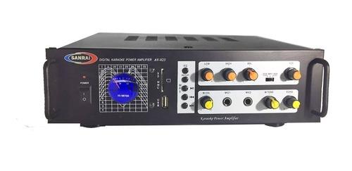 consola potenciada av-023 con usb 2 canales