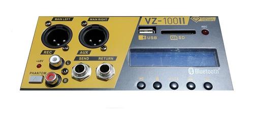consola potenciada mixer skp vz100il usb 500watts 10ch mp3